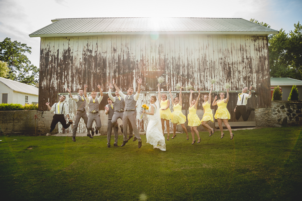wedding jumping photo