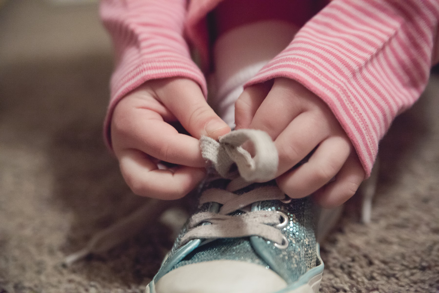 Year Old Tying Shoes