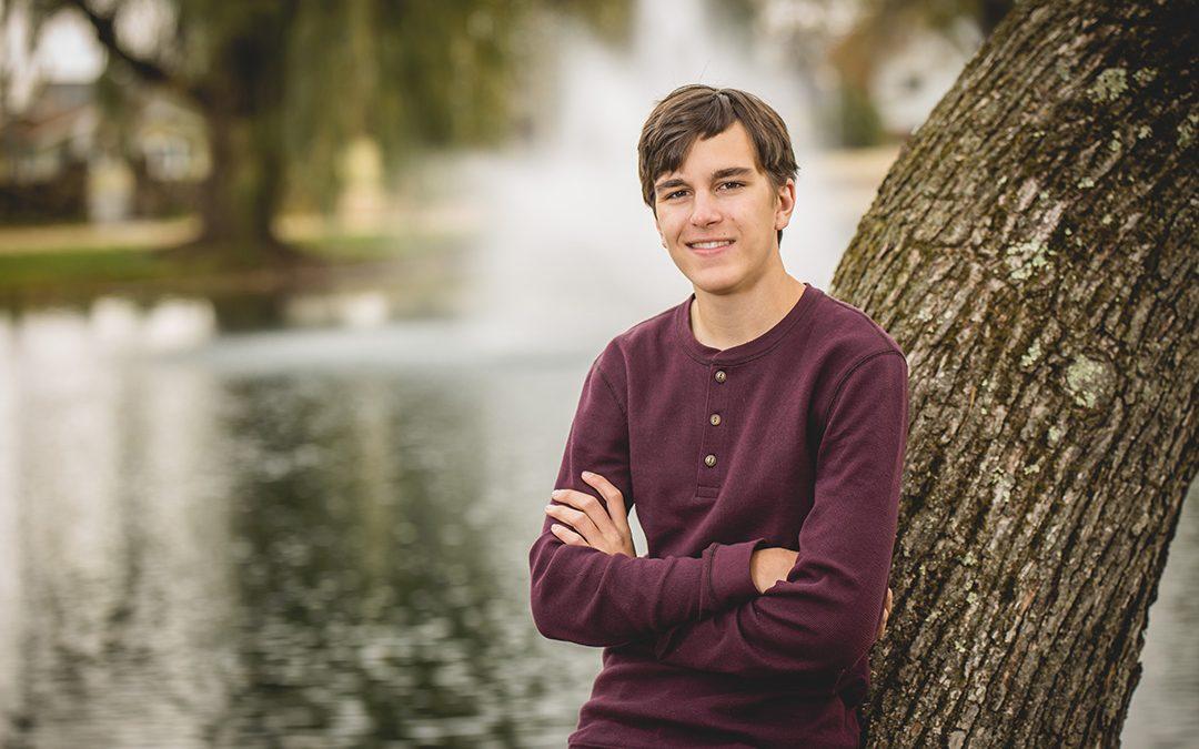 Alex's Senior Portraits at Paquette Park in Portage Wisconsin